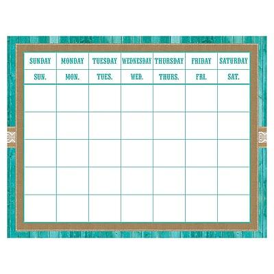 Teacher Created Resources Shabby Chic Calendar Grid, 22