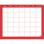 "Trend Polka Dots Red Wipe Off Calendar Monthly, 22"" x 28"" (T-27024)"