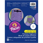 """Pacon, Premium Tagboard Violet, 8.5"""" x 11"""", Bundle of 5 Packs for a total of 250 Sheets (PAC1000021)"""