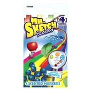 Mr. Sketch Scented Markers, Chisel-Tip, Assorted Colors, 8 Packs of 4 (SAN1900969)