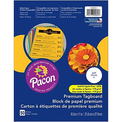 Pacon, Premium Tagboard Gold, 8.5