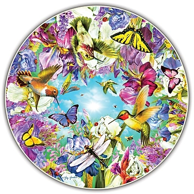 A Broader View Hummingbirds Round Table Puzzle, Assorted Colors, 500pcs (ABW412)