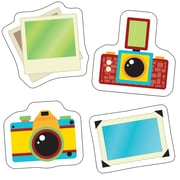 """Carson Dellosa, Hipster Cameras and Photos Cut Outs, 3.5"""" x 5.25"""", Assorted Colors (CD-120217)"""