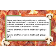 Teacher Created Resource, Math Tasty Task Cards Multiplication Division, 51/pk (EP-3655)