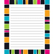 "Trend, Stripe-Tacular Groovy Note Pad Ruled, 6 1/2"" x 7 3/4, Bundle of 6, 50 sheets/pd total of 6 pads 300 sheets (T-72354)"
