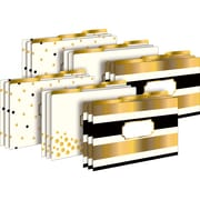 "Barker Creek, 24K Gold Legal File Folders 2pk, 18 Total Folders, 9.5"" x 14.8"" (BCP3520)"