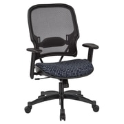 Office Star SPACE Seating Professional Light AirGrid Back Chair with Indigo Fabric Memory Foam Seat (1587C-K113)