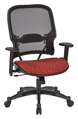 Office Star SPACE Seating Professional Light AirGrid Back Chair with Ruby Fabric Memory Foam Seat (1587C-K114)