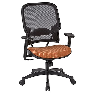 Office Star SPACE Seating Professional Light AirGrid Back Chair with Tangelo Fabric Memory Foam Seat (1587C-K105)
