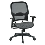Office Star SPACE Seating Professional Light AirGrid Back Chair with Ash Fabric Memory Foam Seat (1587C-K102)