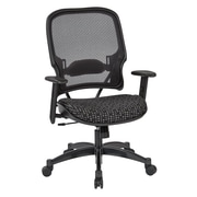 Office Star SPACE Seating Professional Light AirGrid Back Chair with Onyx Fabric Memory Foam Seat (1587C-K101)