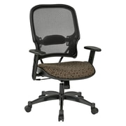 Office Star SPACE Seating Professional Light AirGrid Back Chair with Cocoa Fabric Memory Foam Seat (1587C-K104)