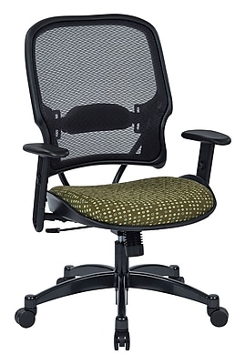 Office Star SPACE Seating Professional Light AirGrid Back Chair with Herb Fabric Memory Foam Seat (1587C-K103)