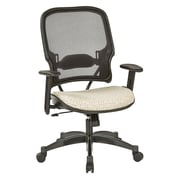 Office Star SPACE Seating Professional Light AirGrid Back Chair with Luna Fabric Memory Foam Seat (1587C-K100)