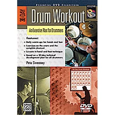 Alfred 30-Day Drum Workout- An Exercise Plan for Drummers - Music Book (ALFRD39768)