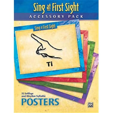 Alfred 9 x 12 in. Sing at First Sight Accessory Pack (LFR50572)