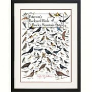 Steven M. Lewers Earth Sky Water Petersons Backyard Birds of the Rocky Mountains Poster (GC23551)