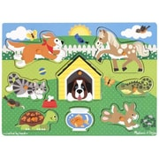 Melissa And Doug Pets Peg Puzzle (MLSSAND1487)