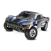 Traxxas Slash 1-10 2WD Xl-5 Ready to Run Monster Truck with 2.4 Ghz Radio - No Battery - Silver & Blue (HPDS11014)