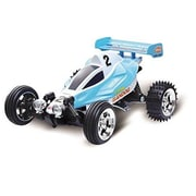 ToysTekkCorp Microgear Radio Controlled RC Mini Buggy, Blue Red - RB (TYTK132)