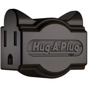 Hug-A-Plug DG1.S.1.0-BN Grounded Dual Outlet Single Plug - Brown (HGPLG014)
