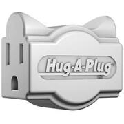Hug-A-Plug DG1.S.1.0-WH Grounded Dual Outlet Single Plug - White (HGPLG016)