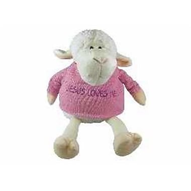 Swanson Christian Supply Toy Plush Lamb Girl Sitting Jesus Loves Me 9 In. (ANCRD8868)