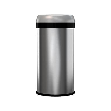 Halo™ Dual-Deodorizer Round Open Top Fingerprint-Proof Stainless Steel Trash Can