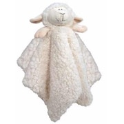 Stephan Baby 18 X 18 Blankie Cuddle Bud, Lamb-Satin Trimmed White (ANCRD2105)