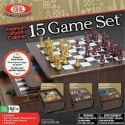 Alex Brands Ideal Premium Wood Cabinet 15 Game Set (ALXB307)
