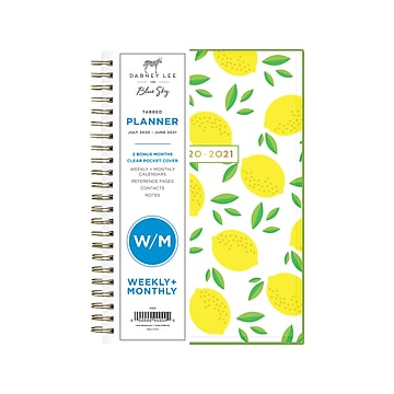 """Blue Sky Dabney Lee 20-21 Academic Calendar Planner Weekly Monthly 5.5"""" X 8"""" NEW"""