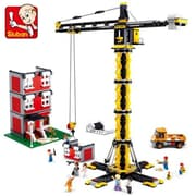 Sluban Tower Crane Building Blocks Construction Set with 1461 Bricks (CISA239)