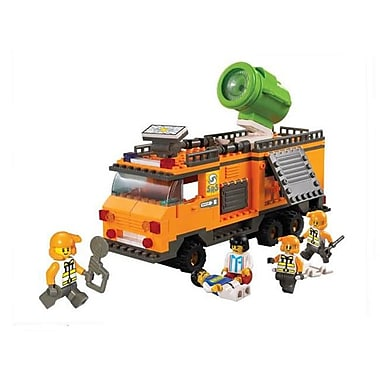 Sluban Lighting Command Vehicle Building Block Set - 268 Bricks (CISA085)