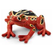 Schleich North America African Reed Frog Toy Figure - Red (TRVAL98260)