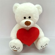 Flomo Valentine Plush Bear Holding A Heart - 15.75 in. - Case of 6 (DLR336592)