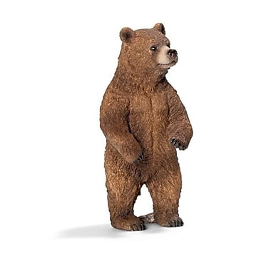 Schleich North America Grizzly Female Bear Toy Figure -Brown (TRVAL97438)