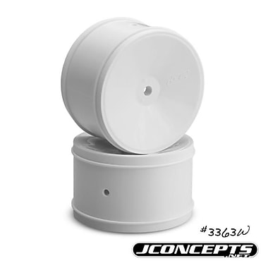 J Concepts Bullet- B5-RB6 Rear Wheel - White - 2.4 in. & 60 mm - 4 Piece (HPDS5656)