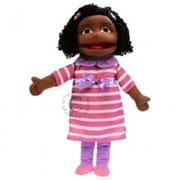 Puppet Company Medium Girl Hand Puppet - Dark Skin Tone (PUPTC230)