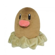 Sanei 5 in. Pokemon Diglett Plush Toy (INNX950)
