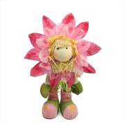 Gordon 29 in. Pink, Green & Yellow Spring Floral Standing Sunflower Girl Decorative Figure (GDNC12566_1)