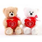 Flomo Valentine Sitting Plush in. HUG ME in. Bear - 11 in. - Case of 12 (DLR336495)