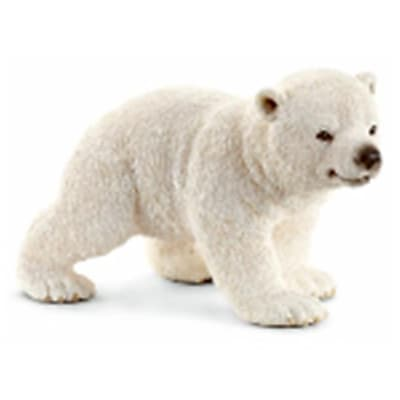 Schleich North America Walking Polar Bear Cub Toy Figure - White (TRVAL98327) 24059374