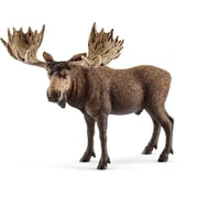 Schleich North America Moose Bull Figure, Brown (TRVAL102568)
