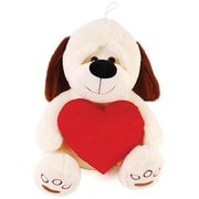 Flomo Valentine Plush Dog Holding a Red Heart - 15 .75 in. - Case of 6 (DLR336452)