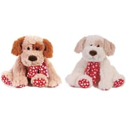 Flomo Forget Me Not Sitting Dog with Heart Scarf - 11.75 in. - Case of 12 (DLR336730)