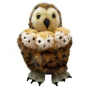 Puppet Company Hide-Away Puppet, Tawny Owl with 3 Babies - 9.5 in. (PUPTC125)