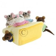 Puppet Company Hide-Away Puppet, Mouse Family in Cheese - 7.5 in. (PUPTC122)