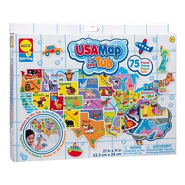 Alex Brands Rub a Dub USA Map in the Tub (ALXB436)