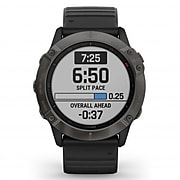 Garmin fenix 6X Sapphire Multisport GPS Watch, Carbon Gray DLC with Black Band (010-02157-10)