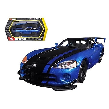 Bburago Dodge Viper SRT 10 ACR Blue & Black 1-24 Diecast Model Car (DTDP345)